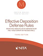 Effective Deposition Defense Rules: What You Need to Do to Defend Your Fact and Expert Witness Well (NITA) (English Edition)