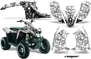 AMR Racing Graphics Kit for ATV Polaris Trail Blazer 2010-2013 REAPER WHITE