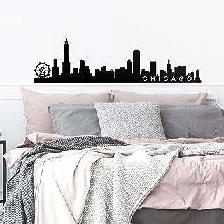 Vinyl Wall Art Decal - Chicago Skyline - 16