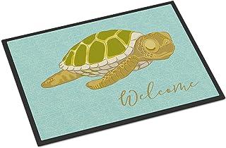 Caroline's Treasures BB8562MAT Sea Turtle Welcome Indoor or Outdoor Mat 18x27, 18H X 27W, Multicolor