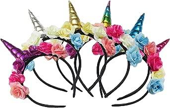 THEE Einhorn Haarband Kinder Haarreif Mehrfarbige Haarschmuck für Mädchen Geburtstag Party Geschenk Stirnband ,Bunt ,6 Stück
