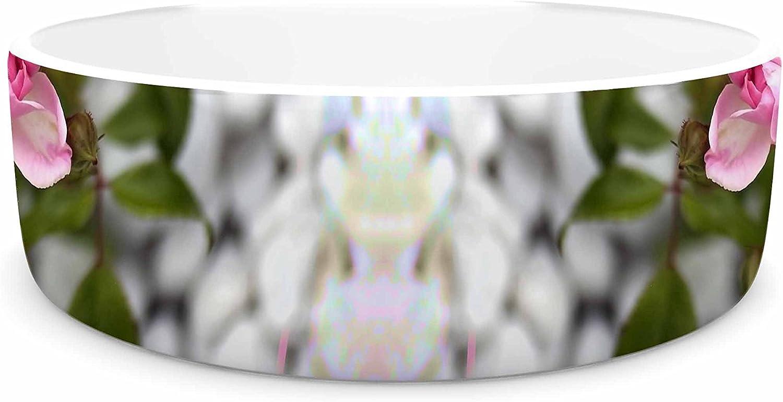 KESS Pia Schneider pinks L Green Pet Bowl, 7 InHouse Pink