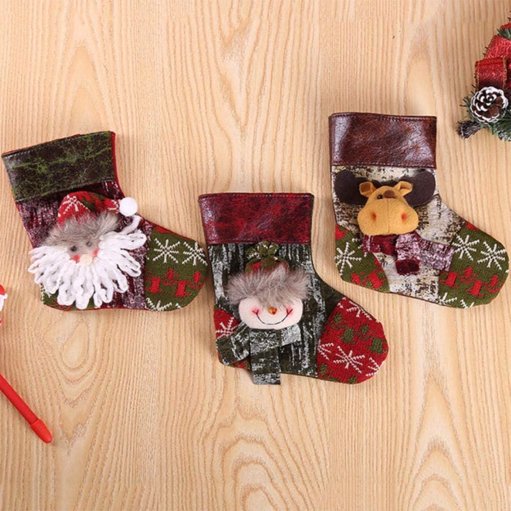 LLAAIT Regalos de calcetín de Navidad Decoración del árbol de Navidad Medias Colgante Adornos de Calcetines Regalo de Bolsa de Dulces para niños Decoración navideña para el hogar, 13, Estados Unidos