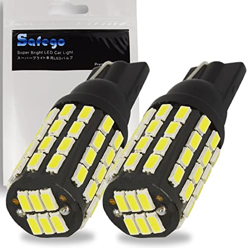 KaTur 2pcs Extremely Bright 800 Lumens High Power T10 168 175 194 2825 W5W 3014 Chipsets 54SMD LED Bulbs Front Rear Sidemarker Light Bulbs License Plate Parking Tail Back Up Light 12V-24V Xenon White