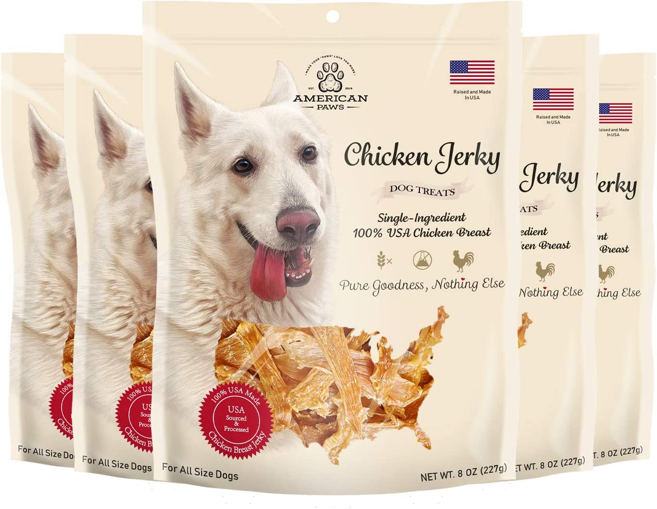 American Safety and trust Paws Chicken Jerky New popularity Dog Treats Natural in USA All Made