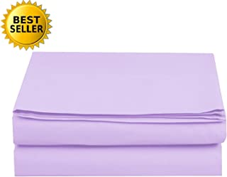 Luxury Fitted Sheet on Amazon Elegant Comfort Wrinkle-Free 1500 Thread Count Egyptian Quality 1-Piece Fitted Sheet, Full Size, Lilac