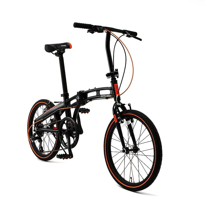 満足できる騒乱リングレットDOPPELGANGER(ドッペルギャンガー) 【 Blackmax シリーズ 】 20インチ 折りたたみ自転車 シマノ7段変速 アルミフレーム ミニベロ 2018年モデル 202-S-DP