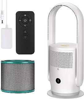 U ULTTY Ventilateur tour, purificateur d'air, avec filtre à air, télécommande, sans roue, silencieux, oscillation à 90°, 9...