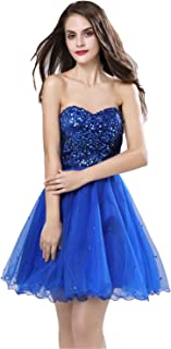 Womens Short Tullle Sequins Homecoming Dresses Mine Prom Party Gowns