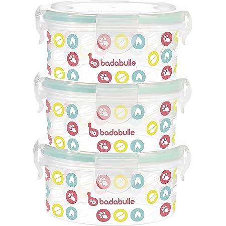 BADABULLE Pack de 3 Boîtes de conservation 300 ml