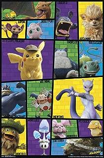 Trends International Pokémon: Detective Pikachu-Grid Mount Wall Poster, 22.375