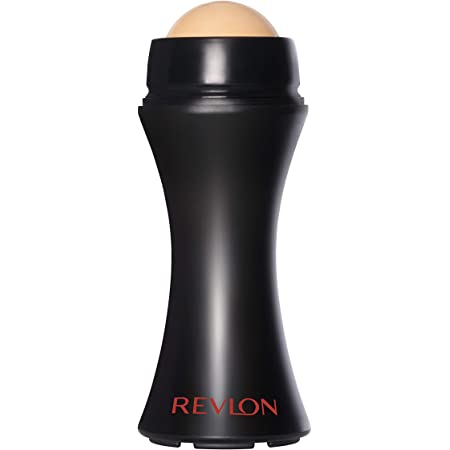 REVLON Oil-Absorbing Volcanic Face Roller, Reusable Facial Skincare Tool for At-Home or On-the-Go Mini Massage