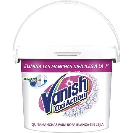 Vanish Oxi Action - Quitamanchas y Blanqueador para Ropa Blanca, en Polvo, Sin Lejía, 2.4 kg