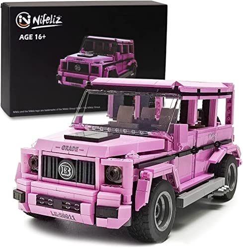 popular Nifeliz G500 Pink MOC Technique Building Blocks and Engineering Toy, Adult Collectible new arrival Model Cars Kits to lowest Build, 1:14 Scale Truck Model (710 Pieces) outlet sale
