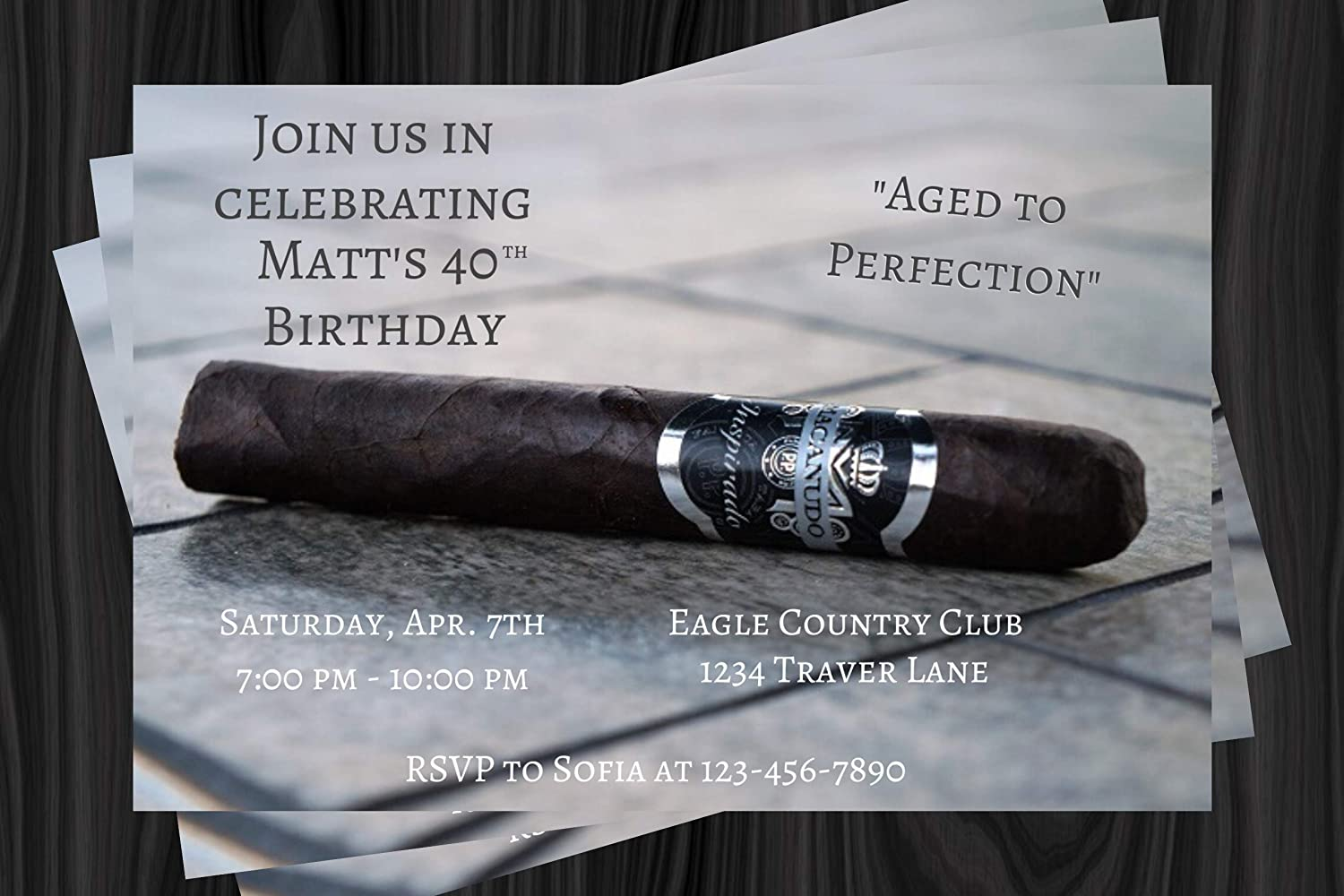 Adult Birthday Party Invitation Cognac Cigar 2021 spring and wholesale summer new