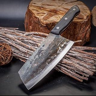Couteau de cuisine forgé à la main Haute acier au carbone Couple de charcuterie Cuisine Sharp Slice Couteau Professionnel ...