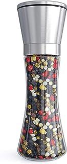 Fsdifly Original Stainless Steel Salt or Pepper Grinder - Tall Salt or Pepper Shakers with Adjustable Coarseness - Salt Gr...