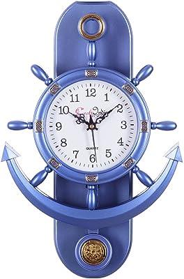eCraftIndia Plastic Decorative Retro Pendulum Wall Clock (12 cm x 1 cm x 15 cm, Dark Purple)