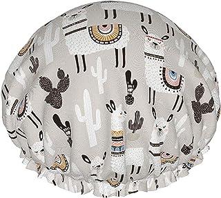 CAMEL Kaktus wodoodporna czapka prysznicowa z elastycznym obszyciem dwustronna konstrukcja do prysznica czapka do spania n...