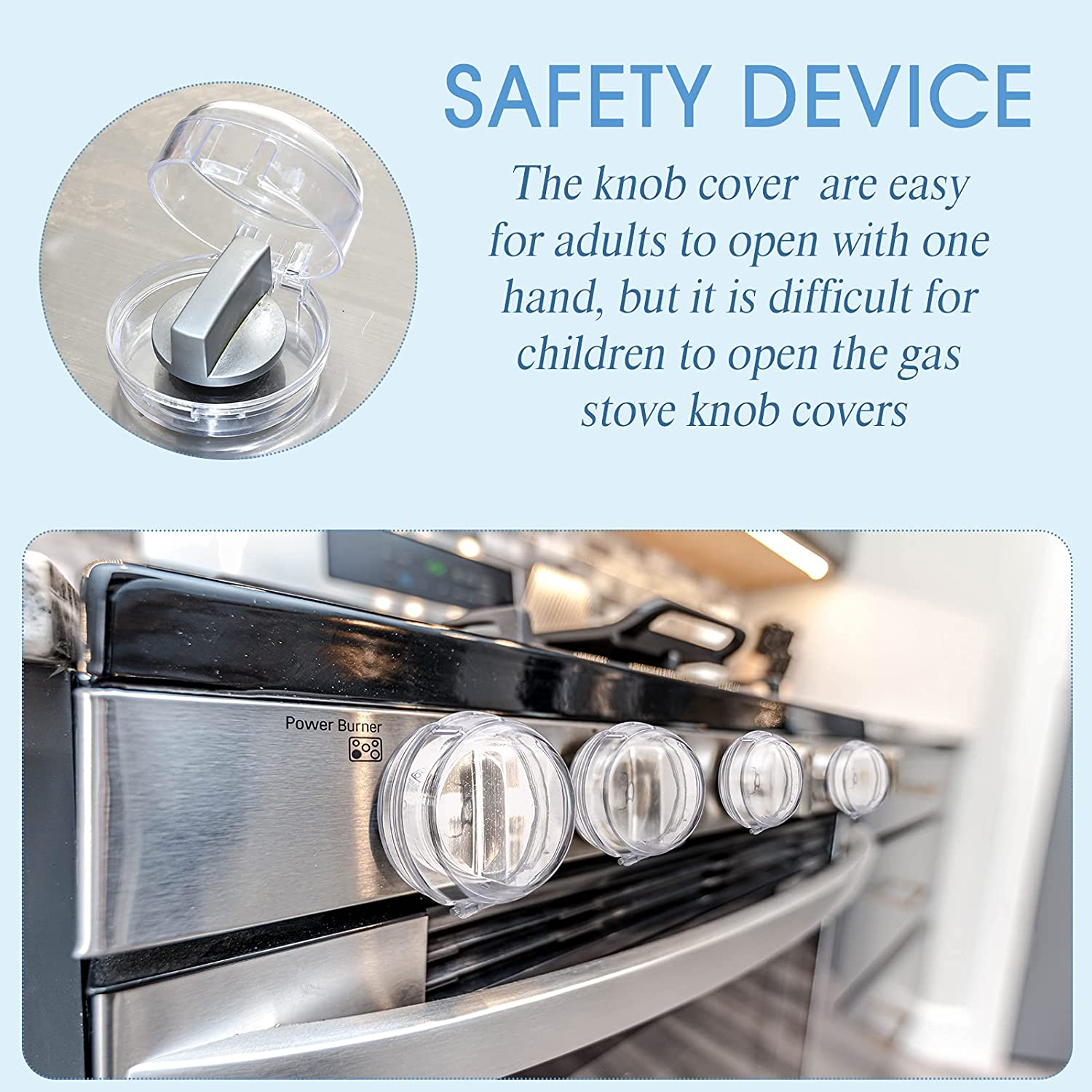 6 Pieces Child Safety Proof Stove Knob Covers and 5 Pieces Cabinet Locks for Child Safety, Gas Stove Knob Covers Childproof Oven Locks for Toddler Kids Home Kitchen Safety Guard Easy to Install