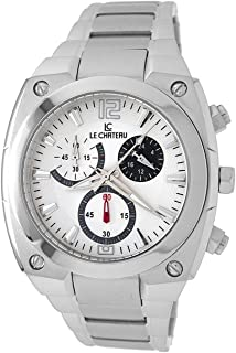 Le Chateau Men's 5410M_WHT Sports Dinamica Collection with Chrono and Military-Time Watch