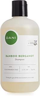 Natural Moisturizing Shampoo by DANI Naturals - Refreshing Bamboo Bergamot Scent - Organic Aloe Vera & Coconut Cleansers - Sulfate, Phthalate & Paraben Free - For Men & Women - 12 Ounces