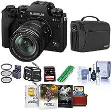 Fujifilm X-T4 Mirrorless Camera with XF 18-55mm f/2.8-4 R LM OIS Lens, Black - Bundle with Shoulder Bag, 32B SDHC Card, Cl...