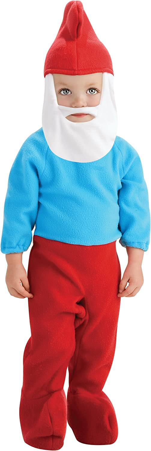 Rubies Costume The Smurfs 2 Papa Smurf Romper and Headpiece, Red bluee, Toddler