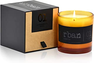 Urban Concepts by DECOCANDLES | Tranquility - Lemongrass & Wild Basil - Highly Scented Soy Candle - Long Lasting - Hand Po...