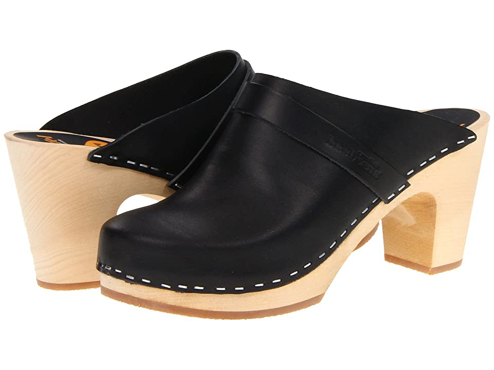 60s Shoes, Boots | 70s Shoes, Platforms, Boots Swedish Hasbeens Slip In Black Womens Clog Shoes $239.00 AT vintagedancer.com