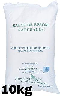 10 Kg Bolsa - Sal de Epsom Puras Fuente concentrada de Magnesio, Sales 100% Naturales. Baño y Cuidado Personal.Promocion Envio 24h
