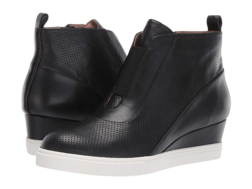 ce89418c72 LINEA Paolo Anna Wedge Sneaker (Black Perforated Nappa Leather) Women