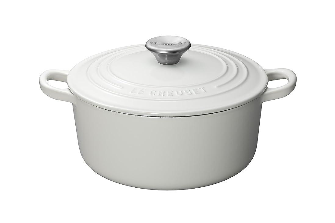 ブラザー腐敗したベックスルクルーゼ ココット ロンド ホーロー 鍋 IH 対応 22cm ホワイト 2101-22-01