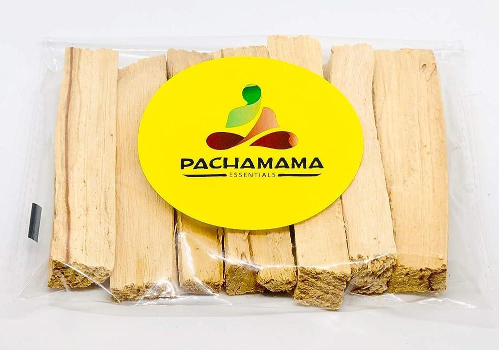 部分的セミナー家庭教師Pachamama Essentials プレミアムパロサント 聖なる木製お香スティック ペルー製 浄化 浄化 癒し 瞑想 ストレス解消 100%天然で持続可能な、野生収穫。 (6)