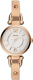 Fossil Women's ES3745 Georgia Analog Quartz Beige Watch
