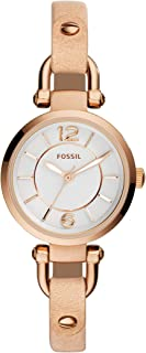 Fossil Women's ES3745 Georgia Analog Quartz Beige Watch