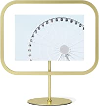 Umbra Infinity Sqround 4x6 Rectangular Picture Frame, Floating Photo Display for Desk or Wall, 4 x 6, Brass