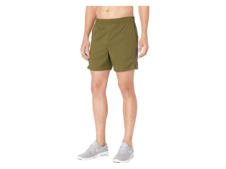 Nike NikeCourt Dry Shorts 7 (Olive Canvas/Gridiron/Gridiron) Men