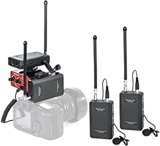 Saramonic VHF Wireless Lavalier Microphone System Bundle :Dual Lav Mic with 2 Transmitter, 2 Receiver and Premium Audio Mixer Compatible with DSLR Cameras Nikon Canon Sony Panasonic and Camcorders