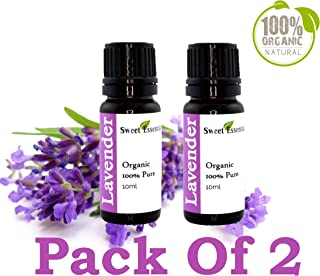 Premium Organic Lavender Essential Oil | Pack of 2-10ML | Imported from France - 100% Pure | Undiluted Therapeutic Grade | Aromatherapy | Perfect for Diffusers | Lavandula Officinalis
