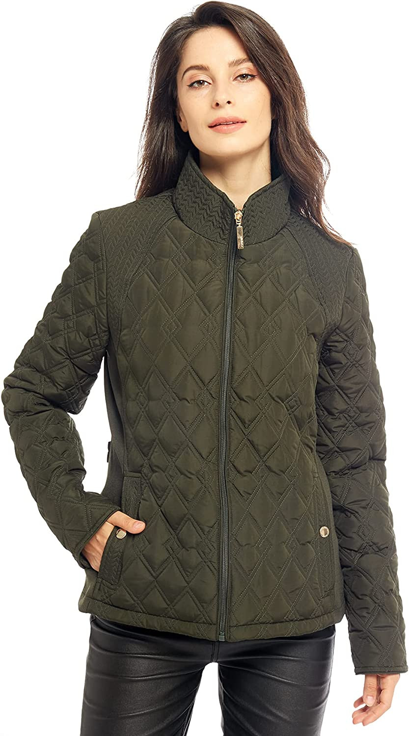 Womens Diamond Max National uniform free shipping 78% OFF Quilted Jacket Lightweight Padding Pock Coat with