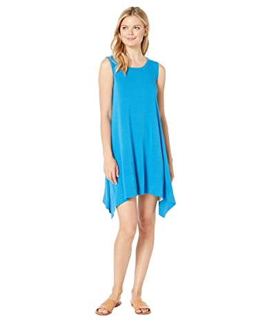 Nally & Millie Sleeveless Trapeze Dress (Blue) Women