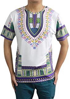 Men's Short Sleeve Printed Casual Traditional African Clothing Dashiki T Shirts