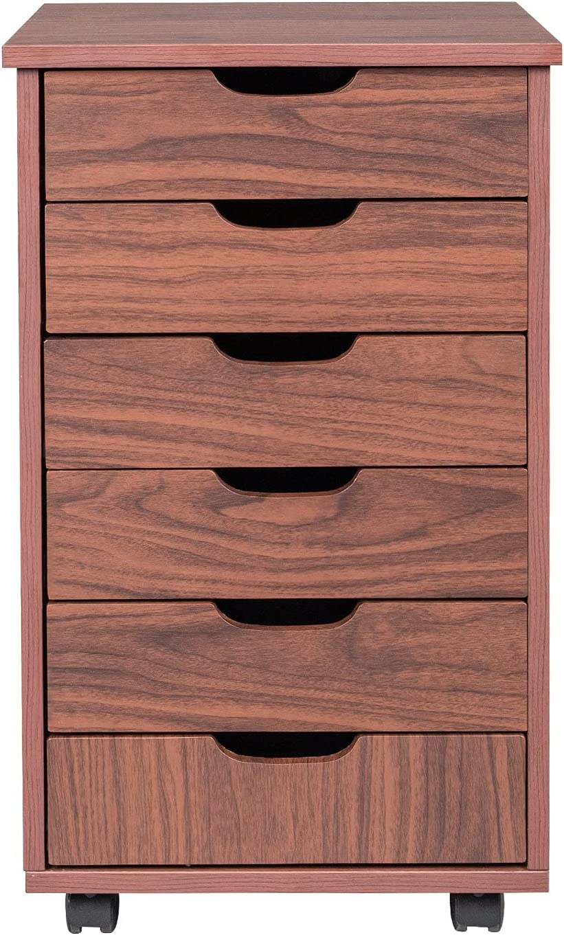 Bss shop Max 85% OFF 6-Drawers MDF with PVC Fil Wooden Filing Courier shipping free shipping Cabinet Office