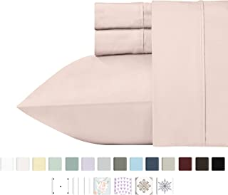 California Design Den 400 Thread Count 100% Cotton Sheet Set, Blush Twin Sheets 3 Piece Set for Kids and Adults, Long-Staple Combed Pure Natural Cotton Bedsheets, Soft & Silky Sateen Weave