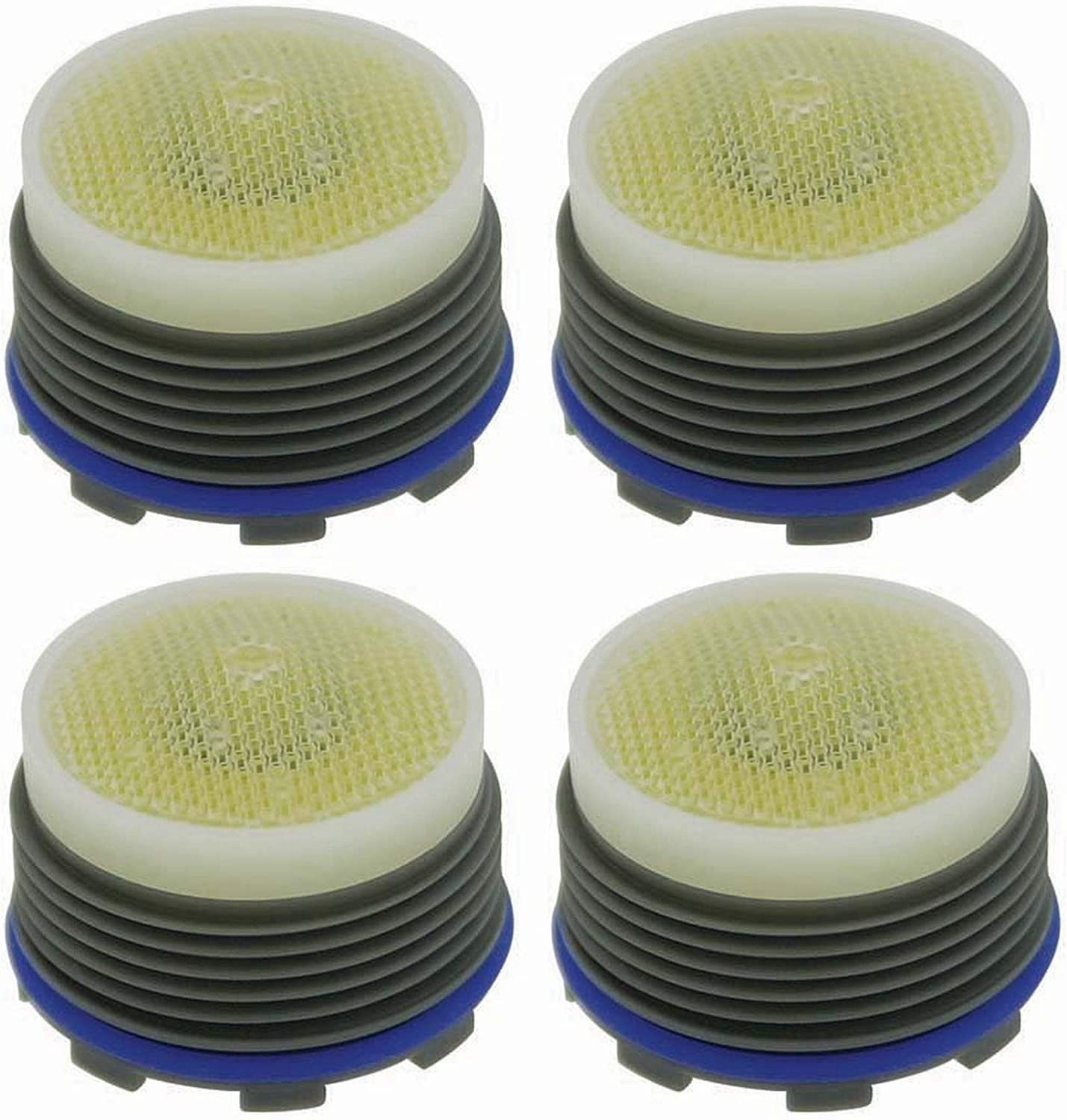 Five Pack M18.5 x 1 Threads Honeycomb Tiny Junior Size Aerated Yellow//Clear Dome 2.2 GPM Plastic 0.561 Height Neoperl 13 0930 5 Standard Flow PCA Cache Perlator HC Aerator