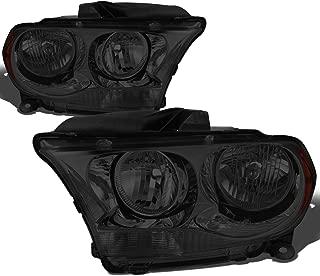 DNA Motoring HL-OH-DDUR11-SM-AM Left+Right Headlight Smoked/Amber[11-13 Dodge Durango]