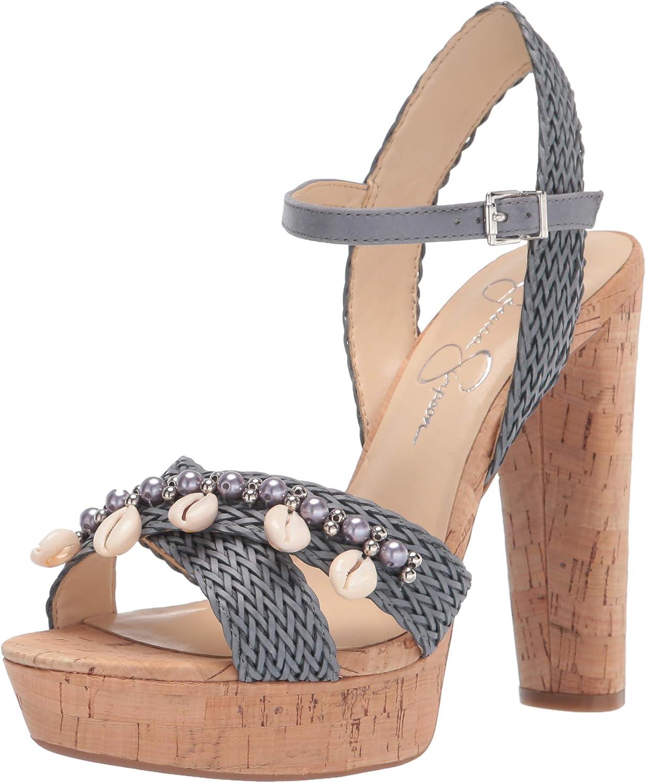 Jessica Popular Simpson Women's 2021 autumn and winter new Ivriele Platform Heeled Sandal