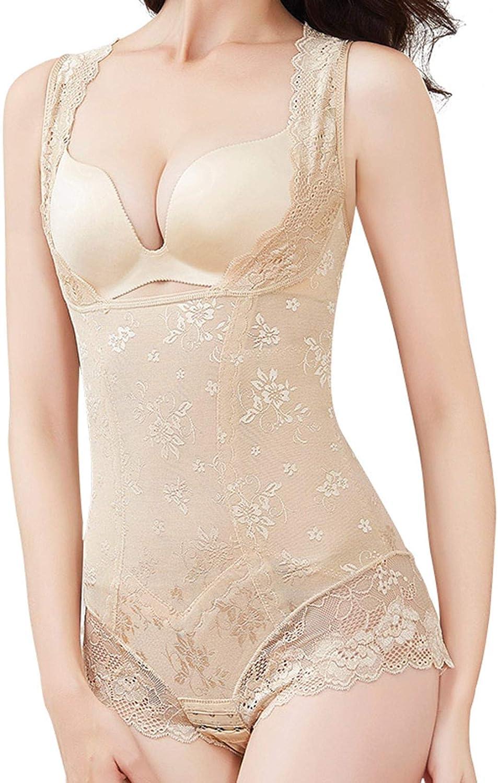 Defitshape Women's Open Bust Shapewear Bodysuit Tummy Control Body Shaper Lace Underwear