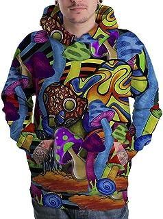 Mushroom Psychedelic Hallucinogen LSD Acid hipie Design 3D Men Pullover Zipper Hoodie Sweaters S-3XL